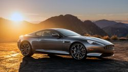 Aston Martin DB9 at sunset