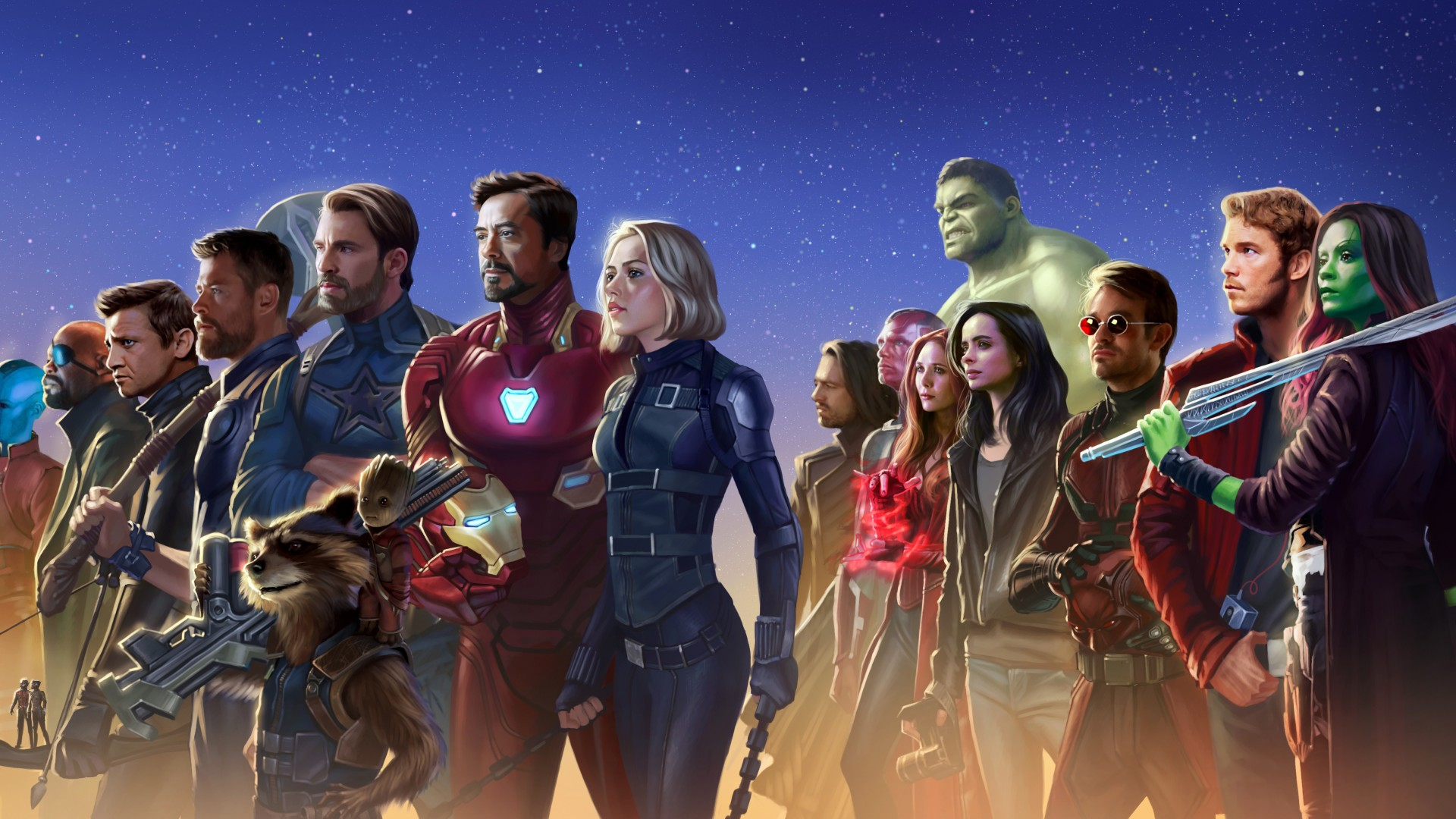 Avengers Infinity War 4k 5k 1920x1080 1080p Wallpaper The Hot Desktop Wallpapers And Backgrounds For Your Pc And Mobile