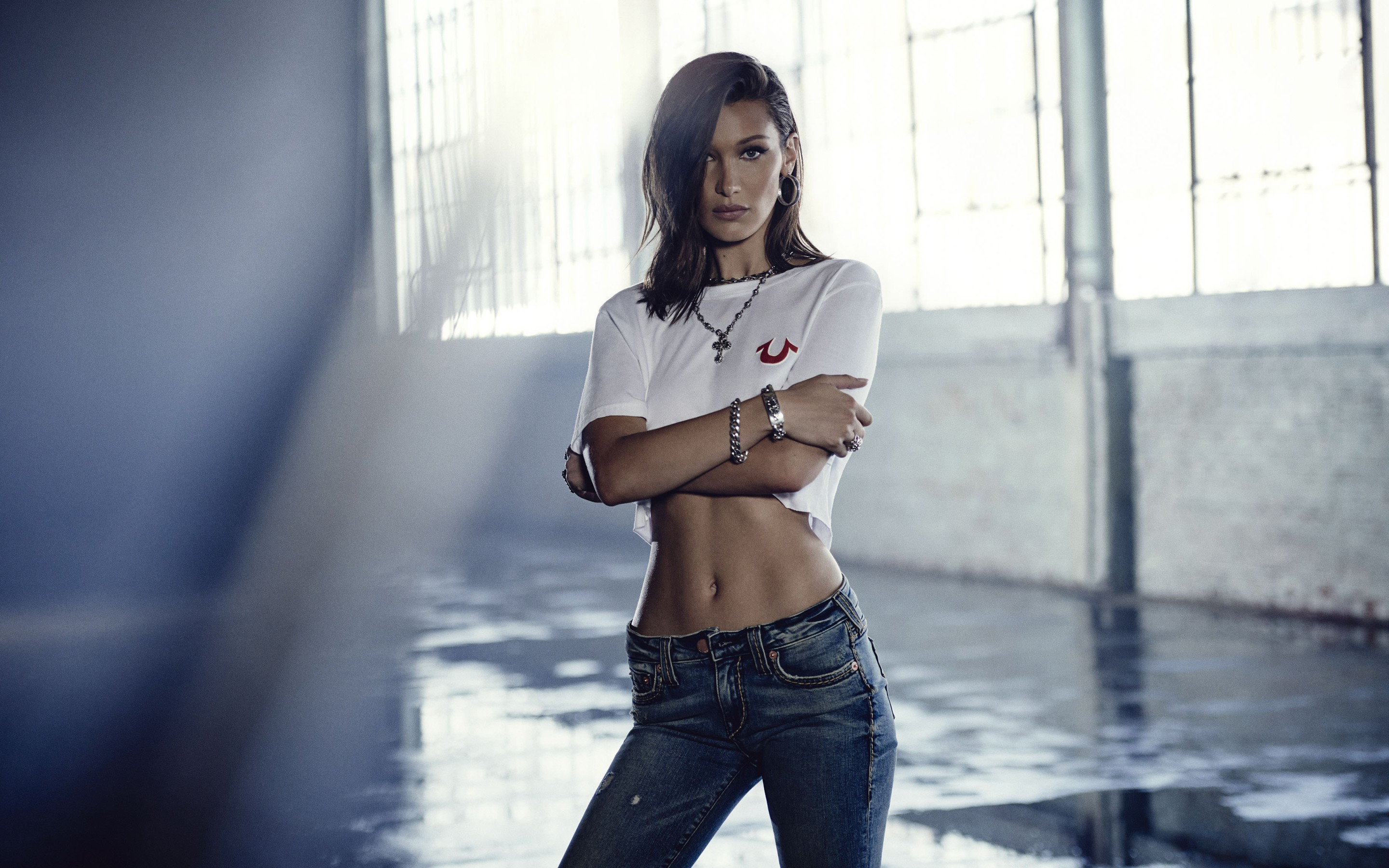 Bella Hadid True Religion Photoshoot 2018 4k
