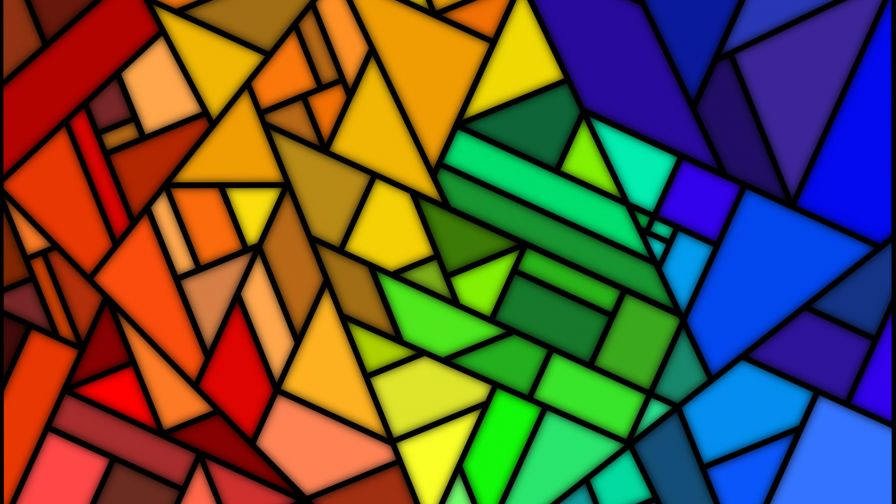 Colourful Mosaic HD Wallpaper