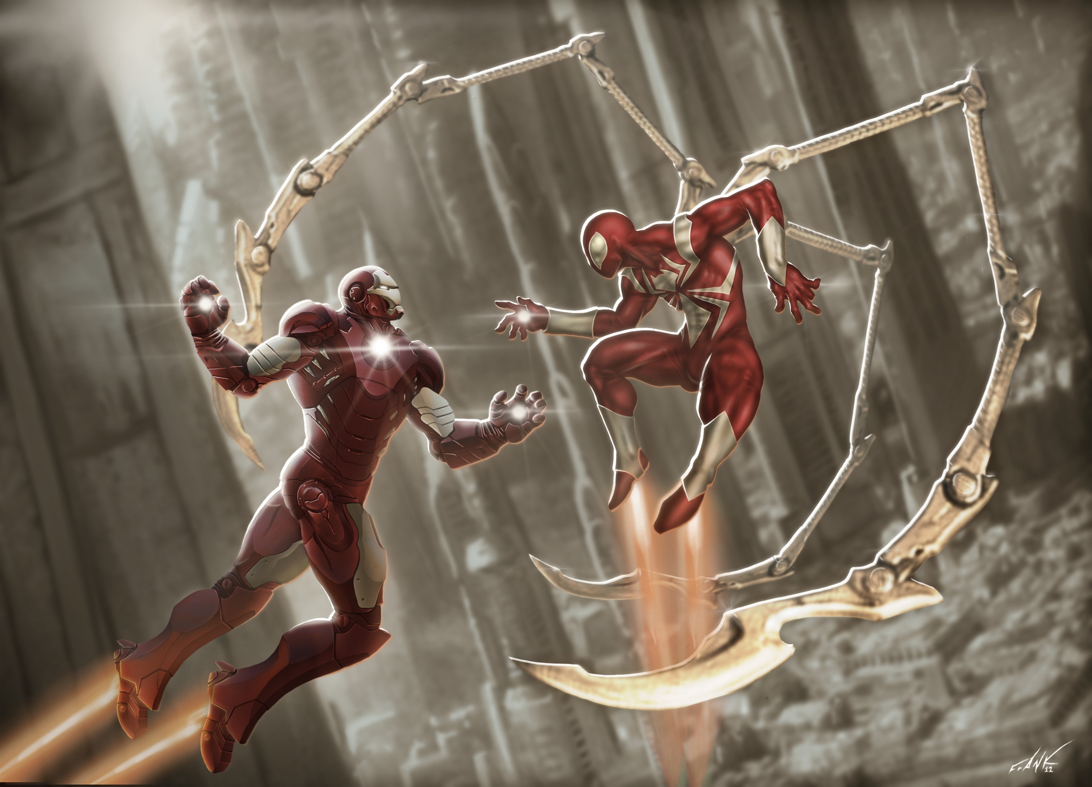 Iron Man And Red Scarlet Spiderman 4k 3700x2667 Wallpaper The Hot Desktop Wallpapers And Backgrounds For Your Pc And Mobile