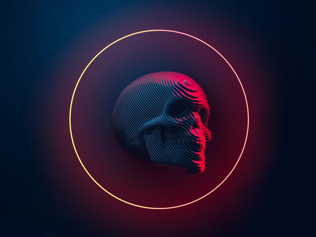 Just Another Skull 4K Wallpaper