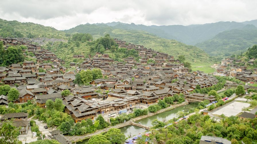 Miao People Ethnic Village China 4K Wallpaper