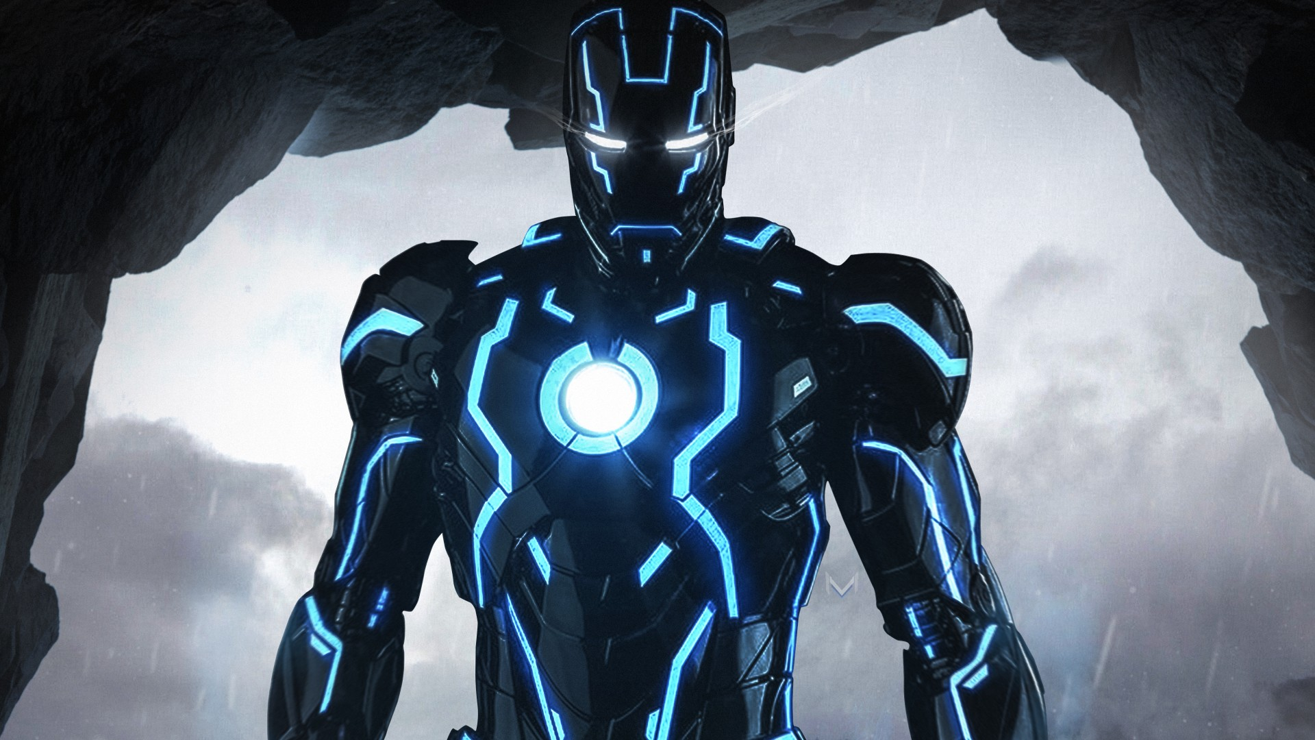 Neon Iron Man 4k Wallpaper 1920x1080 1080p Wallpaper