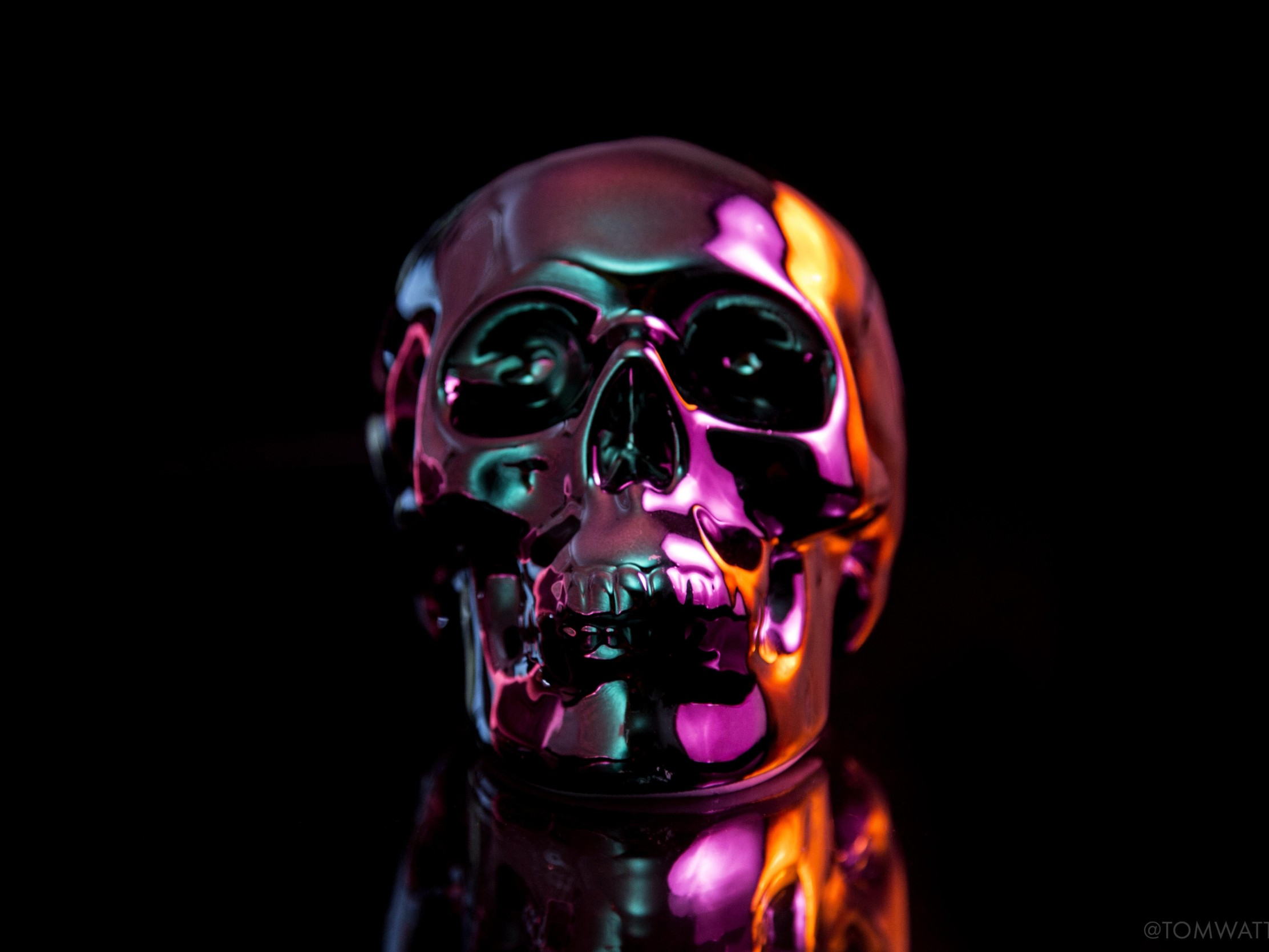 Oil Slick Skull 4K Wallpaper IPad Pro  The Hot Desktop Wallpapers And Backgrounds