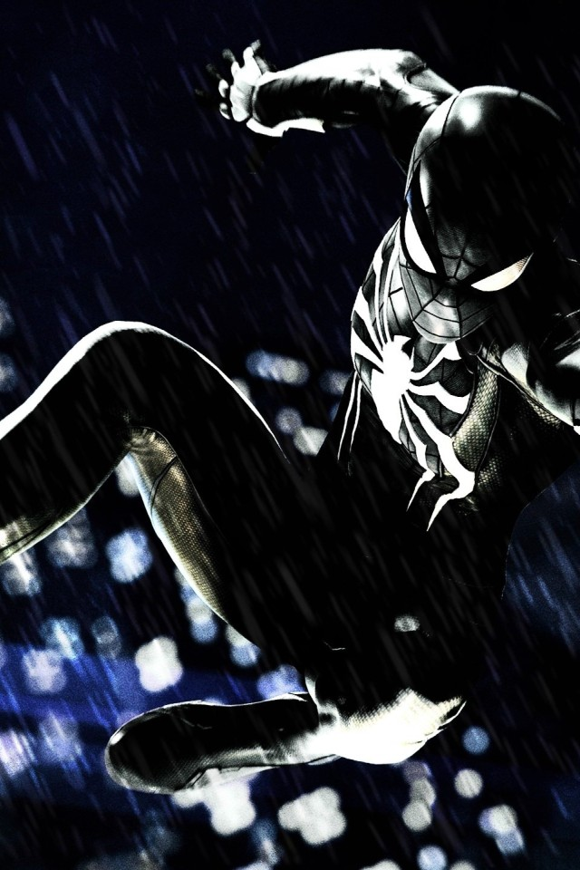 Spider-Man PS Black Suit HD Wallpaper