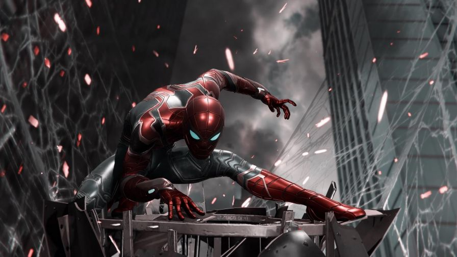 Spiderman Iron Suit Ps4 The Hot Desktop Wallpapers And