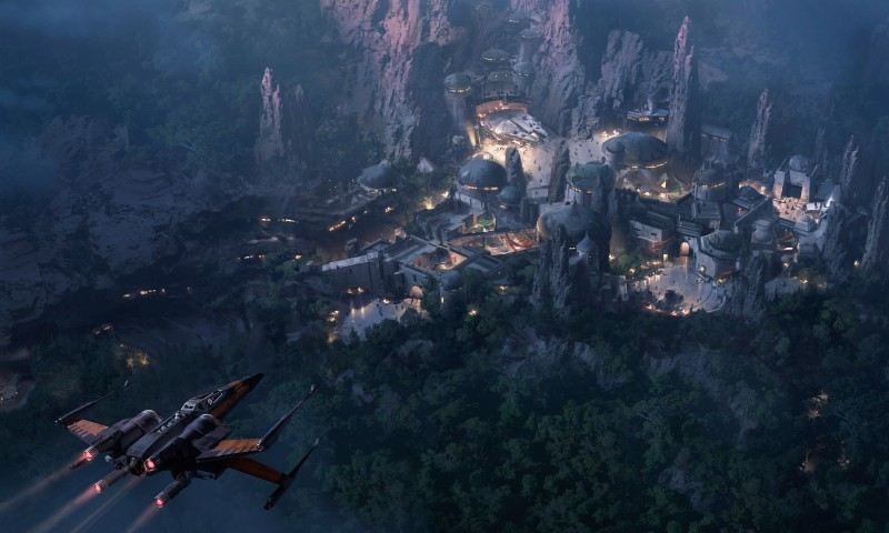 Star Wars Land At Night Concept Art
