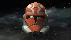 Star Wars The Clone Wars - Season - Clone Trooper Helmet 4K Wallpaper