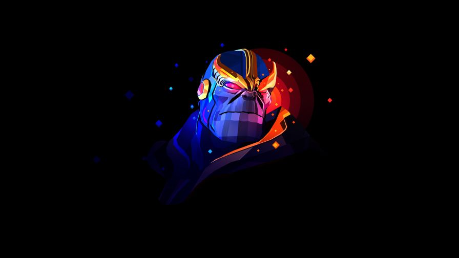 Thanos Facets 4K Wallpaper