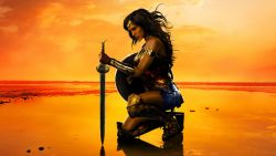 Wonder Woman Alone at Beach HD Wallpaper