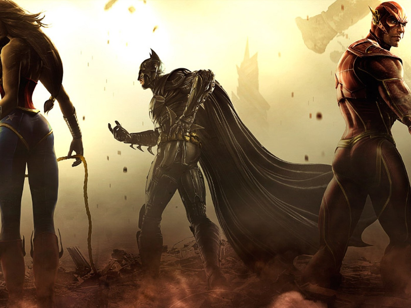 Wonder Woman Batman Flash Artwork